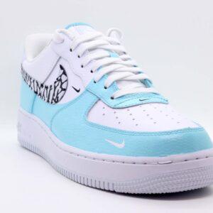 """Nike Air Force 1 Low Custom """"Aqua Elephant"""""""