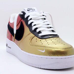 """Nike Air Force 1 Low Premium Custom """"Red Gold Air Brush"""""""
