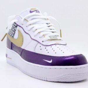 "Nike Air Force 1 Low Custom ""Purple Elephant"""